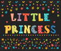 Little Princess. Cute greeting card for little girl. Funny postc