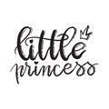 Little princess. Lettering typography fairy tale girl overlay se