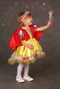 Little princess lovely in costume Stock Photography