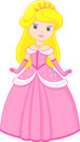 Little princess in a pink dress Royalty Free Stock Image