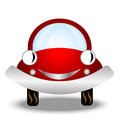 Little red car on white background Royalty Free Stock Photo