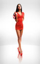 Little red dress. Royalty Free Stock Images
