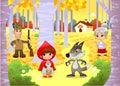 Little Red Hiding Hood scene