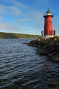 Little Red Lighthouse. Royalty Free Stock Photo