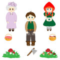 Little Red Riding Hood characters set