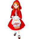 Little red riding hood illustration of Stock Image