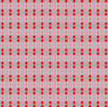 Little red stars pattern for christmas supports and pink on light blue background Stock Images