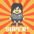 Little referee cartoon Royalty Free Stock Photo
