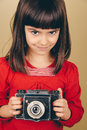 Little Retro Photographer With...