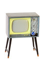 Little retro television isolated on white Royalty Free Stock Photo