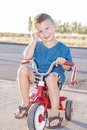Little rider boy on a bicycle Royalty Free Stock Image