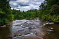 The Little River above High Falls, in Dupont State Forest, North Royalty Free Stock Photo