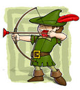 Little Robin Hood. Royalty Free Stock Photo