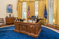 Little Rock, AR/USA - circa February 2016: Table in Replica of White House's Oval Office in Bill Clinton Presidential Center Royalty Free Stock Photo