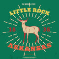 Little Rock, Arkansas. t-shirt graphic. Vector