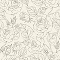 Little rose seamless background vector illustration Stock Photography