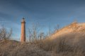 Little sable point lighthouse picture is of near ludington michigan this is located on lake michigan Stock Photo