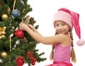 Little santa girl Royalty Free Stock Image