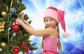 Little santa girl Royalty Free Stock Photography