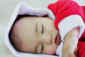 Little santa sleeping Royalty Free Stock Photography
