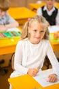 Little schoolgirl Royalty Free Stock Photo