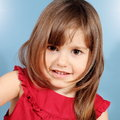 Little Smiling Girl Portrait Stock Image