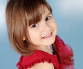 Little Smiling Girl Portrait Stock Photography
