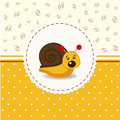 Little snail baby vector illustration Stock Photos