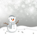 Little snowman Stock Images