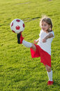 Little soccer player Stock Image