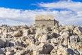 Little stone chapel and church in Razanj Croatia Royalty Free Stock Photo