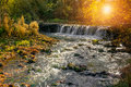 Little stream in provence the issole is a south of france here is a view at sunset Royalty Free Stock Photos