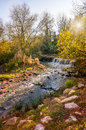 Little stream in provence the issole is a south of france here is a view at sunset Royalty Free Stock Image