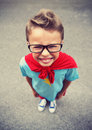 Little superhero a ready to save the world Royalty Free Stock Image