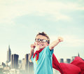 Little superhero a ready to save the world Stock Image