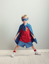 Little superhero a young boy dreams of becoming a Stock Photos