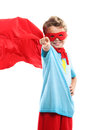 Little superhero a young boy pointing at you Royalty Free Stock Photography