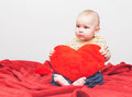 Little sweet boy with heart Stock Image