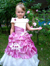 Little sympathetic girl princess image of very beautiful Royalty Free Stock Photos