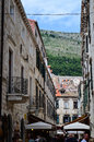Little tipical street in the old town of dubrovnik croatia Royalty Free Stock Photo