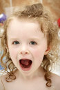 Little toddler laughing in the bath Royalty Free Stock Photo