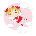 Little tooth fairy vector illustration of cute Royalty Free Stock Photos