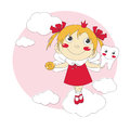 Little tooth fairy vector illustration of cute Stock Image