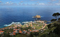 Little town porto moniz at madeira portugal Royalty Free Stock Image