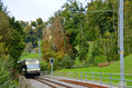 Little train in switzerland blonay village Royalty Free Stock Photos