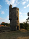The little trianon the tower remaining ruins from floresti palace abandoned castle from floresti romania Royalty Free Stock Image