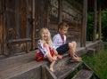 Little ukrainian children