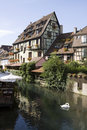 The little venice la petite venise in colmar city alsace france is capital of haut rhin department it is situated along alsatian Stock Photo