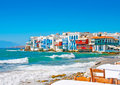 Little Venice in Mykonos Stock Image