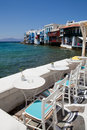 Little Venice, Mykonos, Greece Stock Photography